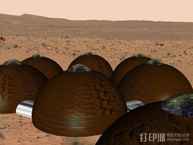 可延展的火星基地 3D模型  图13