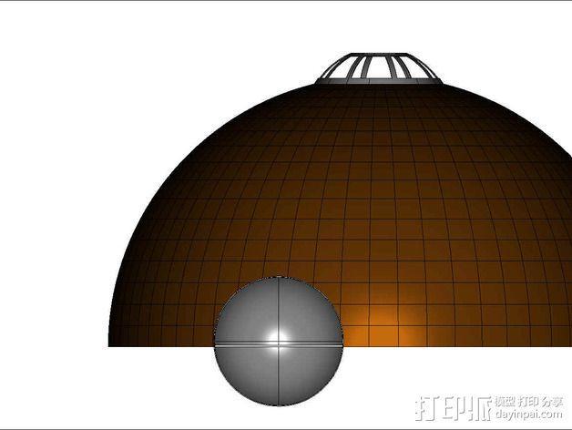 可延展的火星基地 3D模型  图16