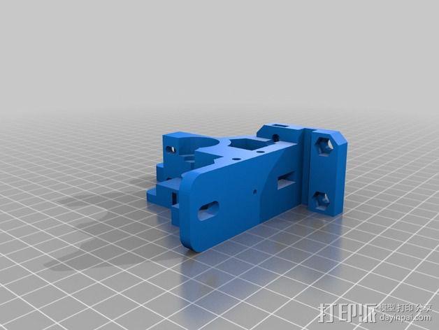 prusa i3 打印机的挤出机支架 3D模型  图1