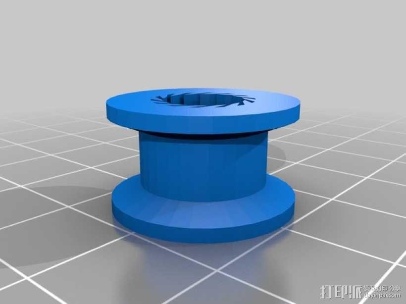 GT2 皮带的惰轮滑轮 3D模型  图2