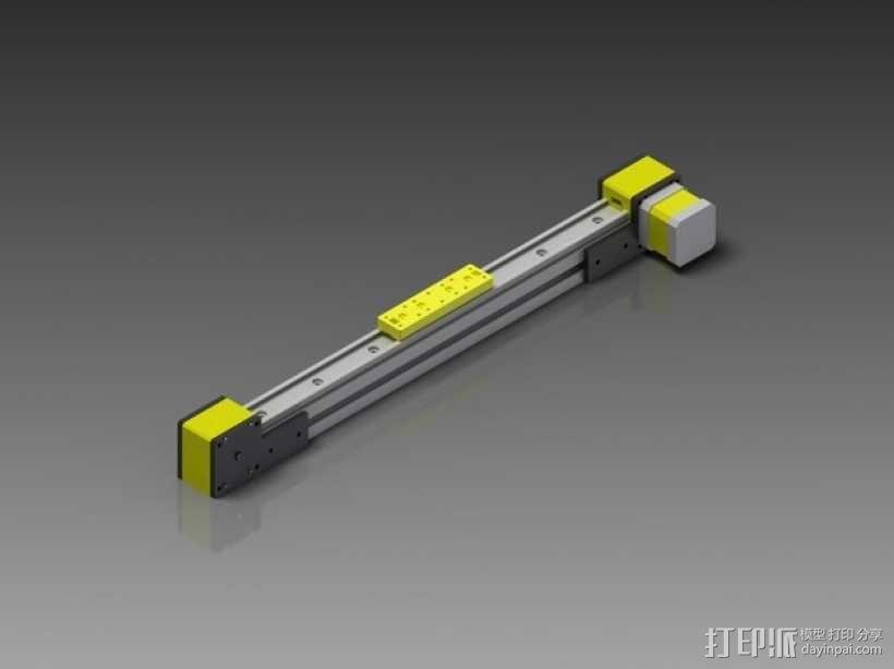 线性致动器/电动推杆/直线运动液压机/线性驱动器 3D模型  图1