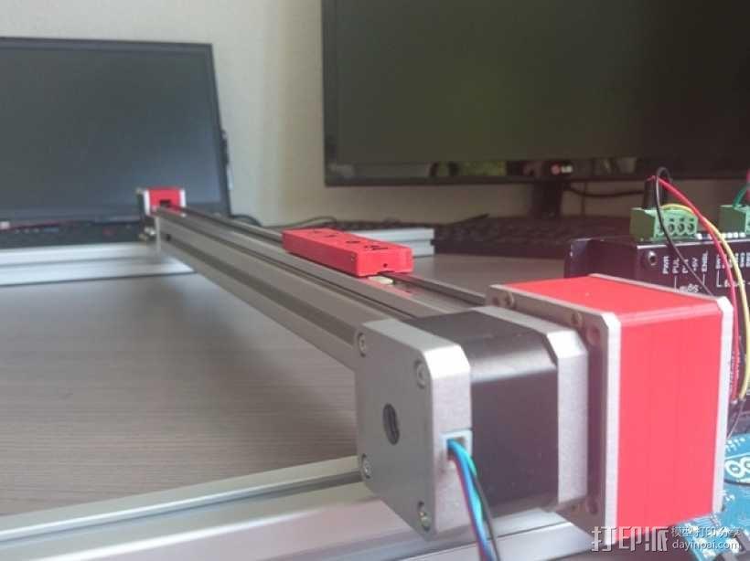 线性致动器/电动推杆/直线运动液压机/线性驱动器 3D模型  图2