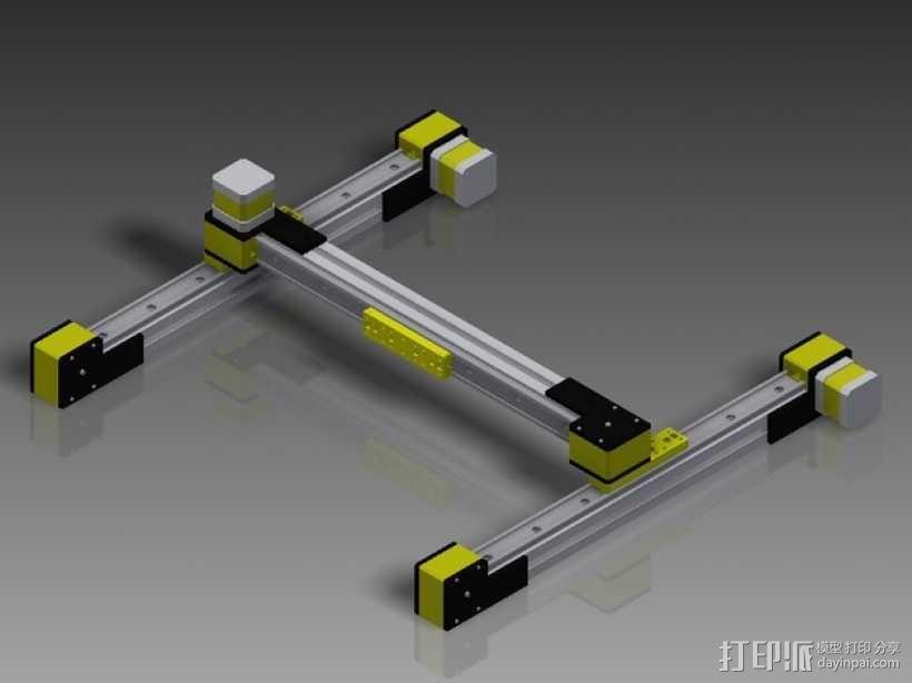 线性致动器/电动推杆/直线运动液压机/线性驱动器 3D模型  图3