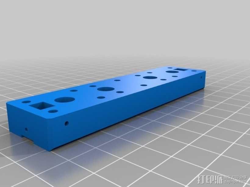 线性致动器/电动推杆/直线运动液压机/线性驱动器 3D模型  图4