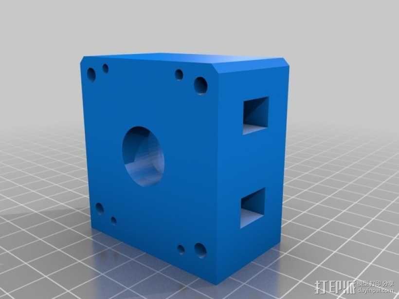线性致动器/电动推杆/直线运动液压机/线性驱动器 3D模型  图5