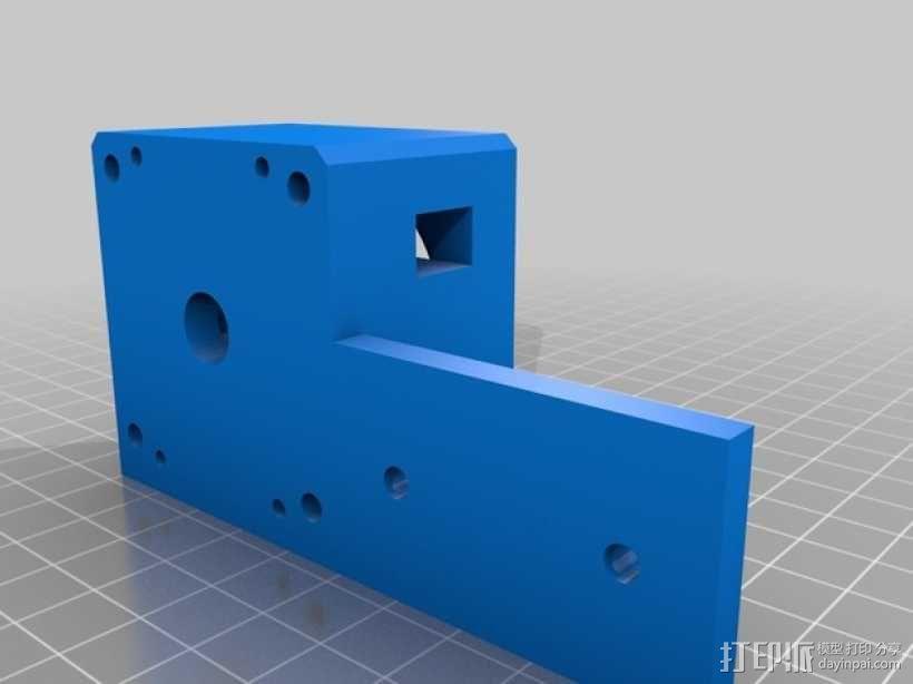 线性致动器/电动推杆/直线运动液压机/线性驱动器 3D模型  图6