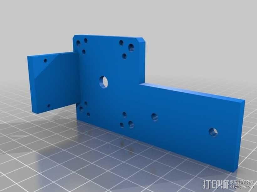 线性致动器/电动推杆/直线运动液压机/线性驱动器 3D模型  图7