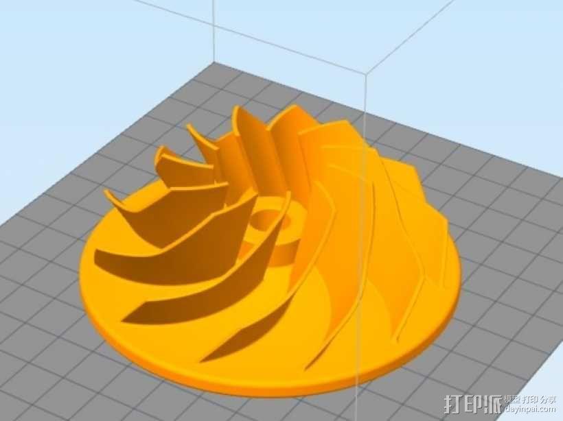 叶轮 3D模型  图1
