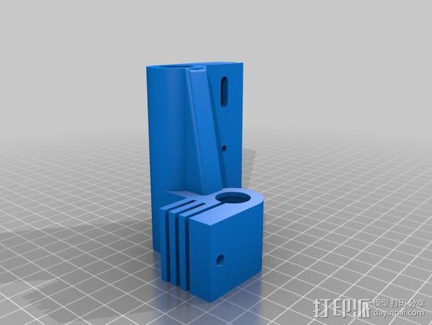Prusa Mendel i2打印机的x-ends 3D模型  图3