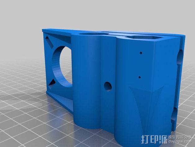 Prusa Mendel i2打印机的x-ends 3D模型  图2