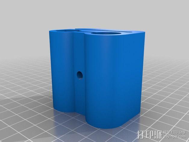 Prusa Mendel i2打印机的x-ends 3D模型  图4