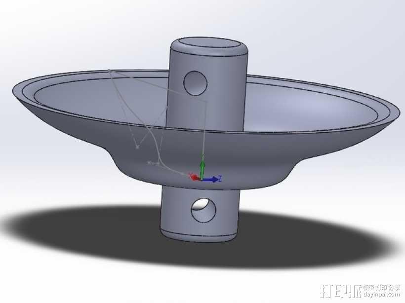 蜂鸟喂食器 阻蚁器 3D模型  图1