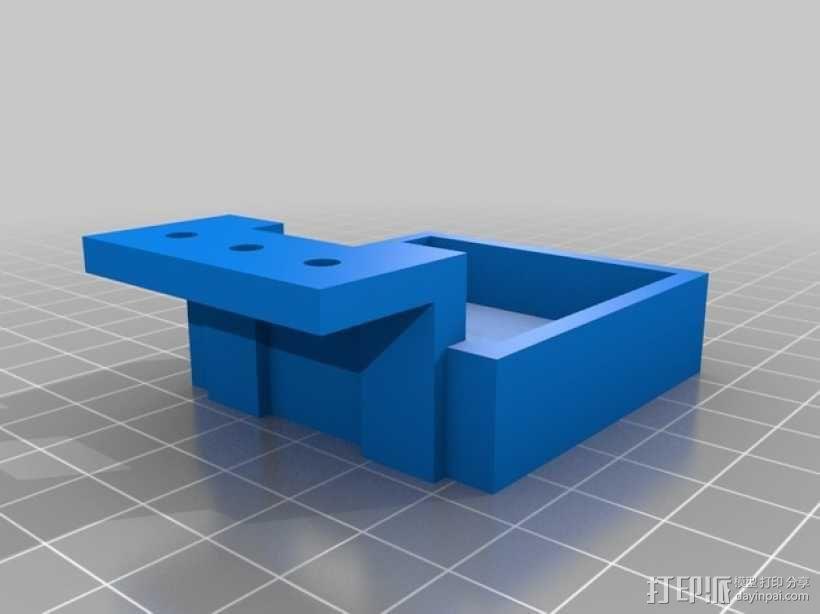 Kossel Mini打印机的齿轮步进挤出机支架 3D模型  图2