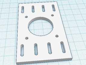 NEMA17步进马达支架 3D模型