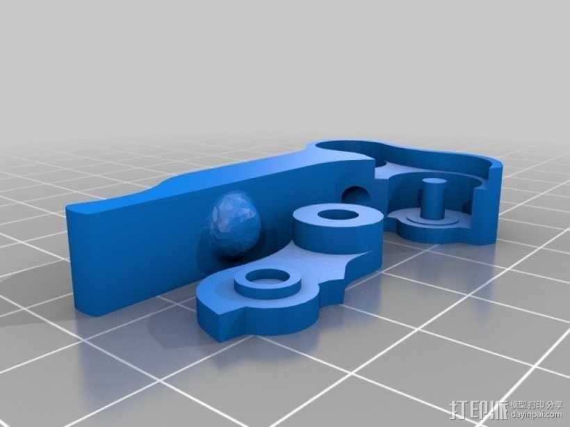 可更换挤出机的挤出机支架 3D模型  图2