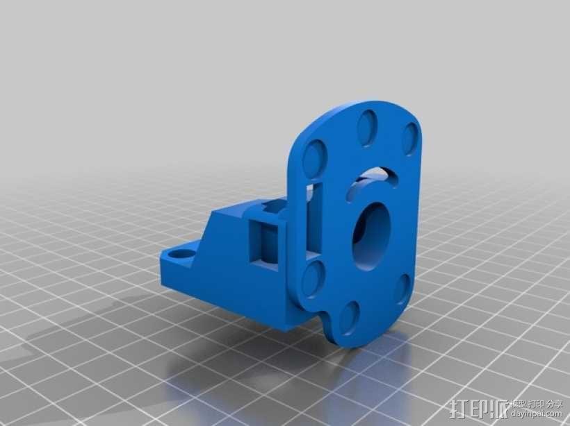 可更换挤出机的挤出机支架 3D模型  图3