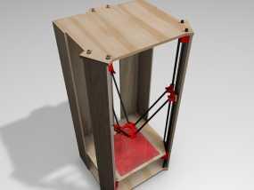 Rostock 打印机的木质框架 3D模型