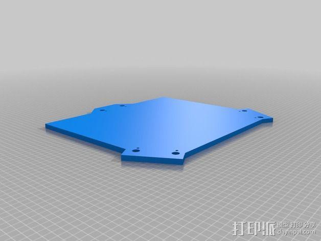 Rostock 打印机的木质框架 3D模型  图2