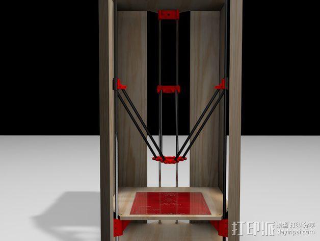 Rostock 打印机的木质框架 3D模型  图5