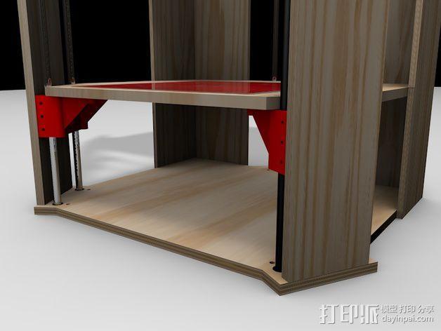 Rostock 打印机的木质框架 3D模型  图7