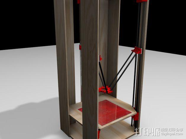 Rostock 打印机的木质框架 3D模型  图6