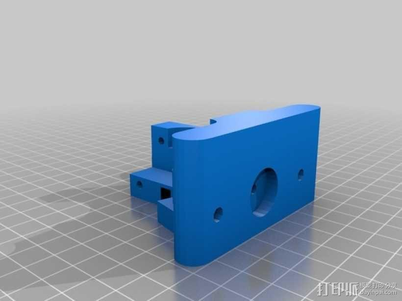 Greg's wade挤出机的支架 3D模型  图1