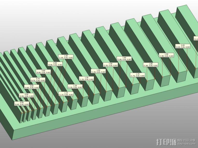 打印测试 搓衣板 3D模型  图1