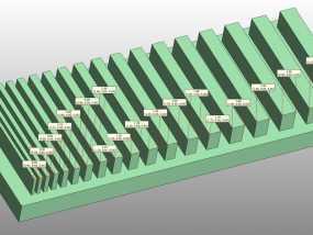 打印测试 搓衣板 3D模型