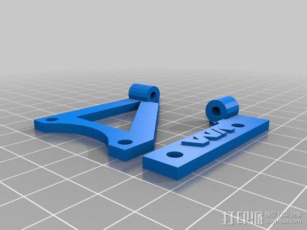 Printrbot Simple打印机的挤出机风扇支架 3D模型  图2