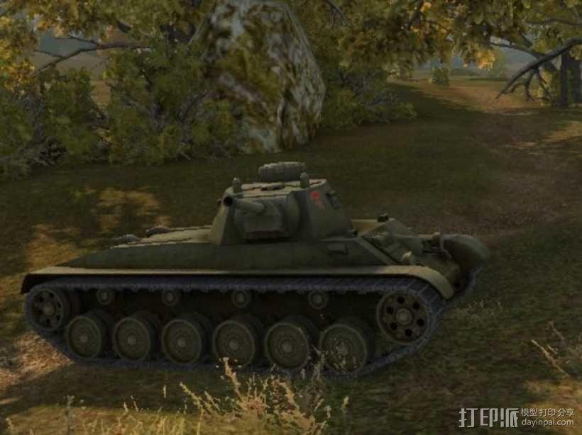 A43坦克 A43黒太子步兵坦克 3D模型  图1