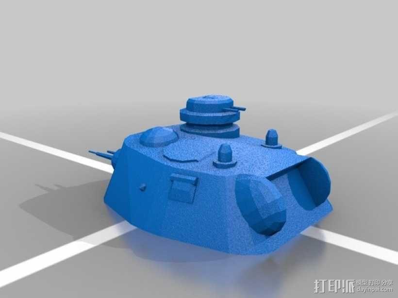 A43坦克 A43黒太子步兵坦克 3D模型  图2