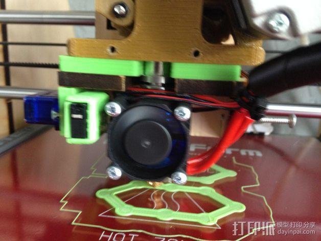 makerfarm打印机的喷头支架 3D模型  图3