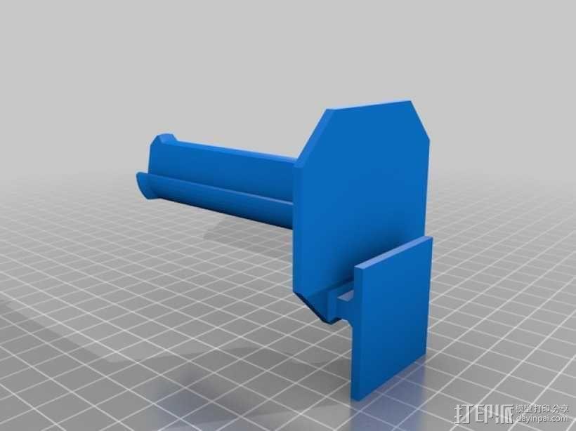 Makerbot Replicator 2 线轴支撑架 3D模型  图1
