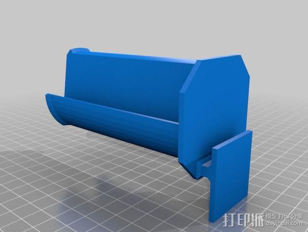 Makerbot Replicator 2 线轴支撑架 3D模型  图3