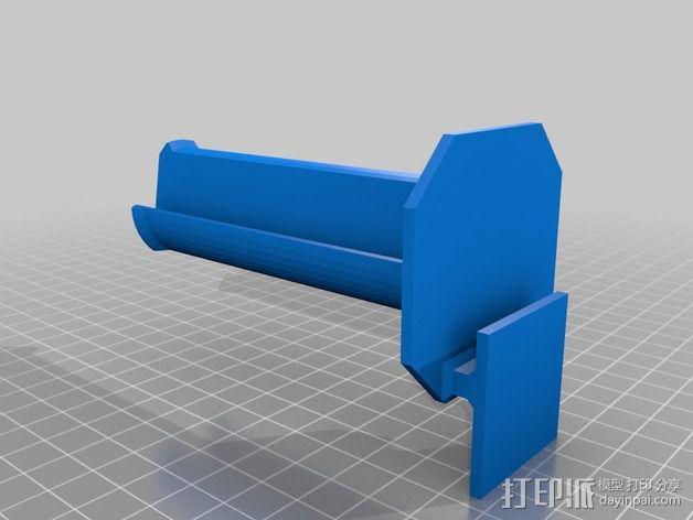 Makerbot Replicator 2 线轴支撑架 3D模型  图2