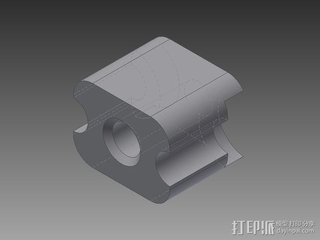 锁紧螺母 3D模型  图5