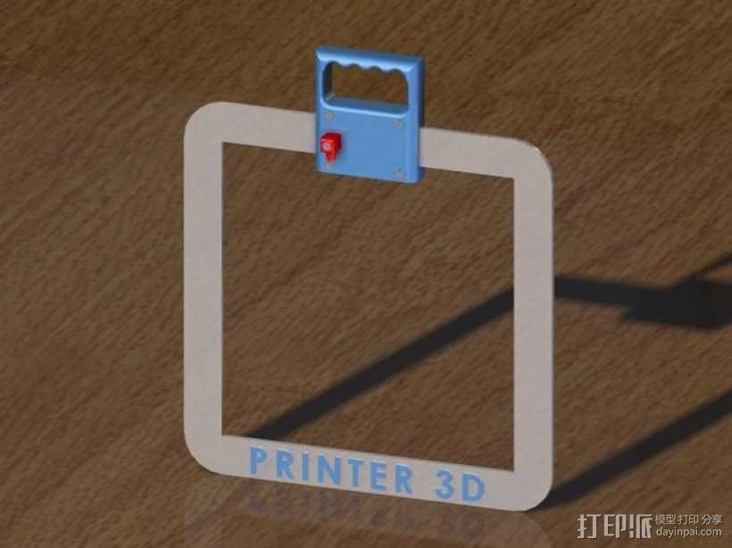 PRUSA I3打印机的控制面板 3D模型  图3