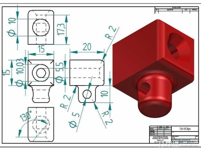 PRUSA I3打印机的控制面板 3D模型  图8