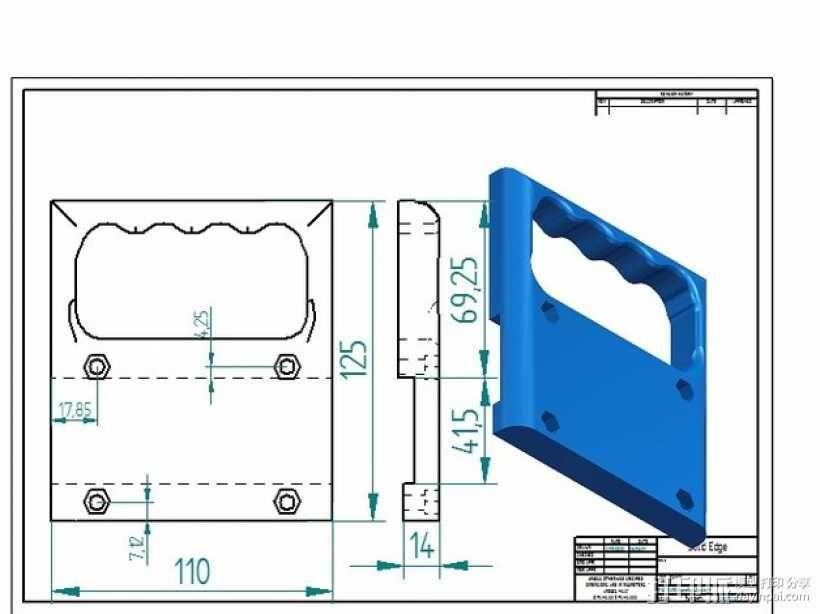 PRUSA I3打印机的控制面板 3D模型  图7