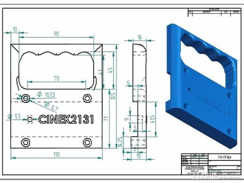 PRUSA I3打印机的控制面板 3D模型  图6
