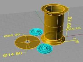 线轴支撑器 3D模型