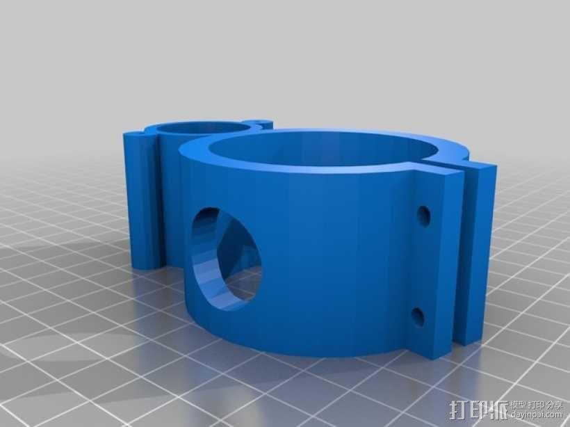 12V 的泵支架 3D模型  图1