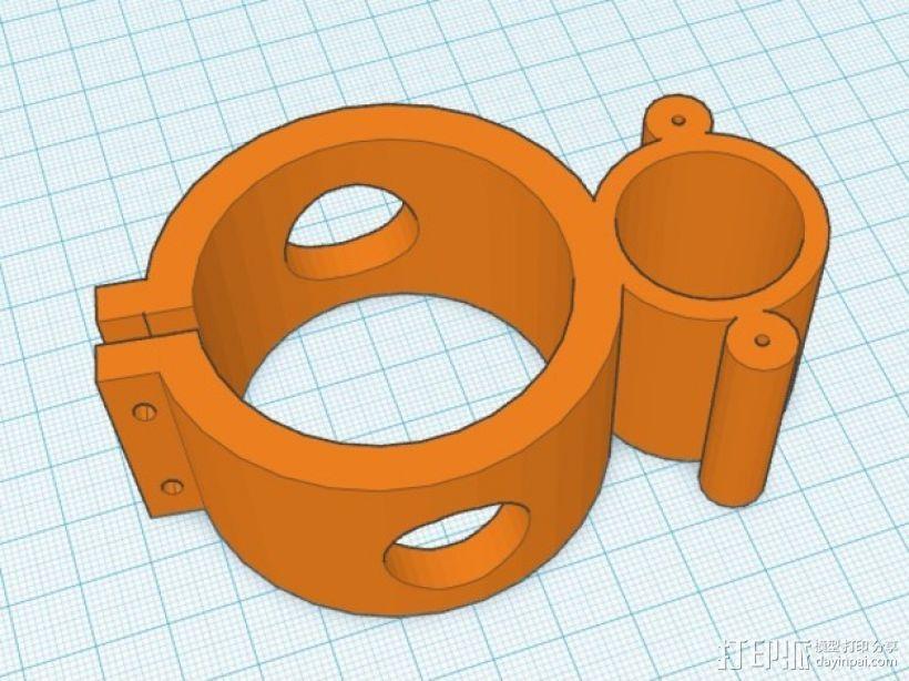 12V 的泵支架 3D模型  图2