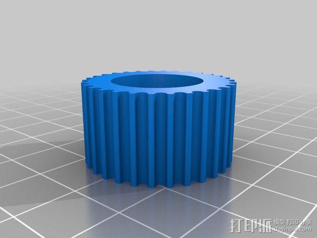 步进马达轴杆旋钮 3D模型  图2