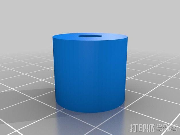 步进马达轴杆旋钮 3D模型  图3