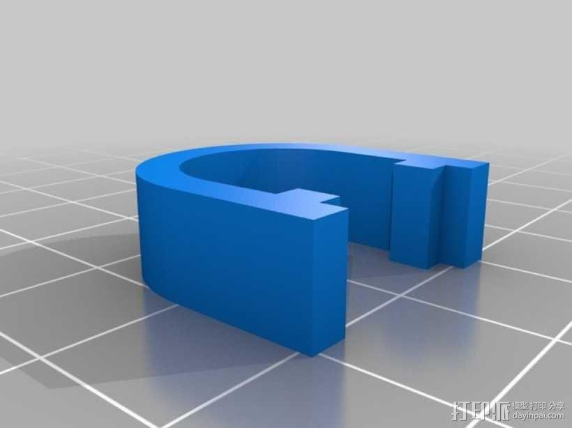 Kossel打印机的电缆夹 3D模型  图1