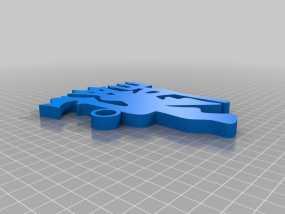 红魔鬼曼彻斯特联队钥匙扣 3D模型