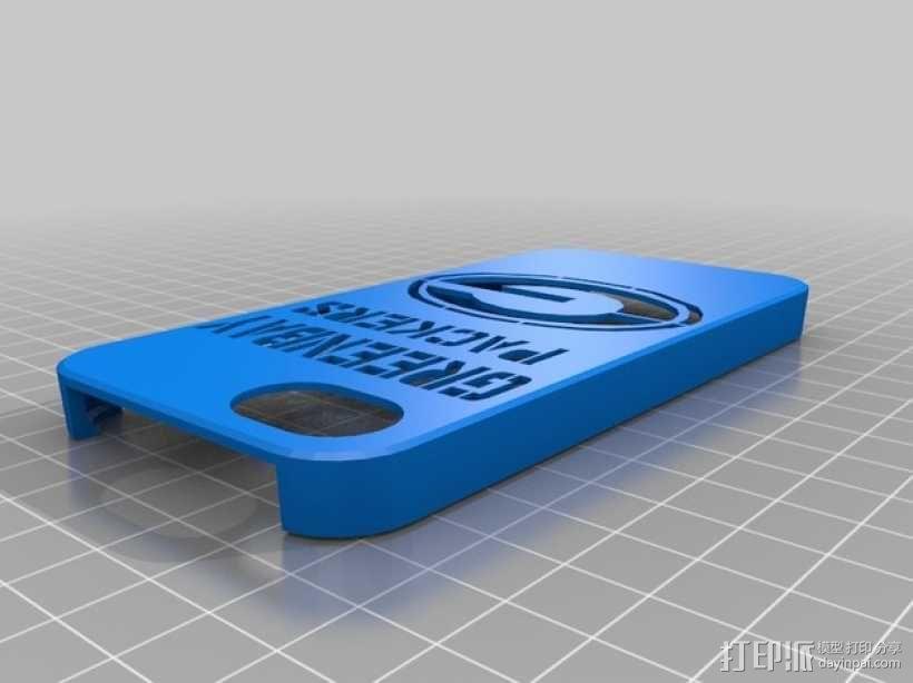 绿湾包装工队 Iphone 5 手机套 3D模型  图1