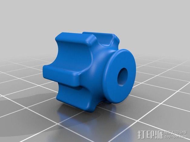 蝶形螺母旋钮 3D模型  图2