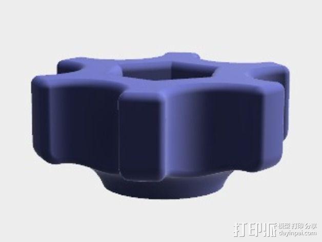 蝶形螺母旋钮 3D模型  图1